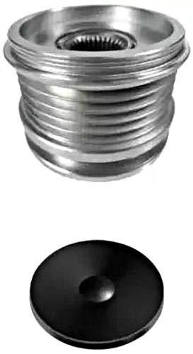 HELLA 9XU 358 039-201 Generatorfreilauf - M16x1,5 - Anzahl der Rillen: 5 - mit Kappe