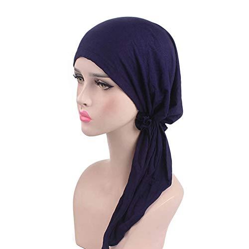 chemo-cap, dames zachte lycra modal katoen turbans chemo-caps Pre gebonden bandana headwear headwrap sjaal cancer caps geschenken voor haaruitval vrouwen