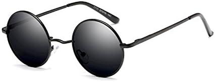 丸サングラス 【クラシックデザイン】 丸型 サングラス ラウンド型 ファッション丸メガネ UVカット 軽量 メンズ【福岡発のアイウェアブランド FREESE】