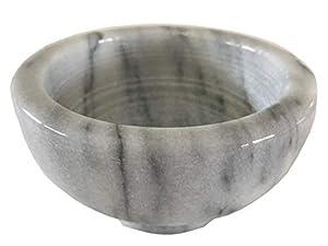 "NAI White Marble Incense Burner Bowl/Smudge Pot/Wicca Ritual Offering Bowl 4 1/2"" W x 2 1/2"" H SBR49"