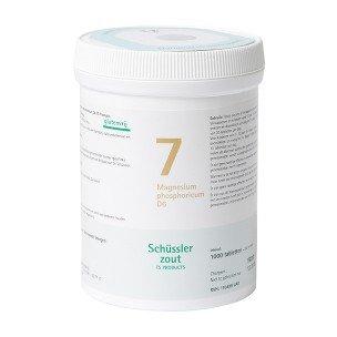 Schussler zout pfluger nr 7 Magnesium Phosphoricum D6 1000 Tabletten Glutenvrij