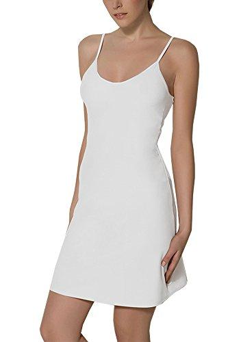 BALI Lingerie - Damen Kurz Unterkleid - 1010 (M, Weiß)