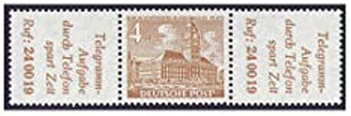 Goldhahn Berlin Zusammendruck W30 postfrisch  Bauten 1952 (R5+4+R5) Briefmarken für Sammler