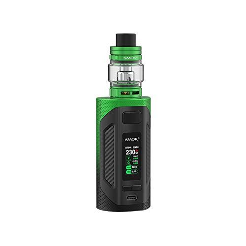 NICOTINE FREE, LIQUID FREE, S. m OK RIGEL Kit Box Mod 230W sigaretta elettronica con 6.5ml TFV9 serbatoio vaporizzatore bobina a rete Alimentato da due 18650 batterie esterne E-sigarette (NO cella)