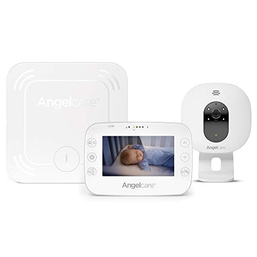 Angelcare 3-in-1 AC327 Baby Monitor, with Breathing Movements Tracking, 4.3'' Video & Sound