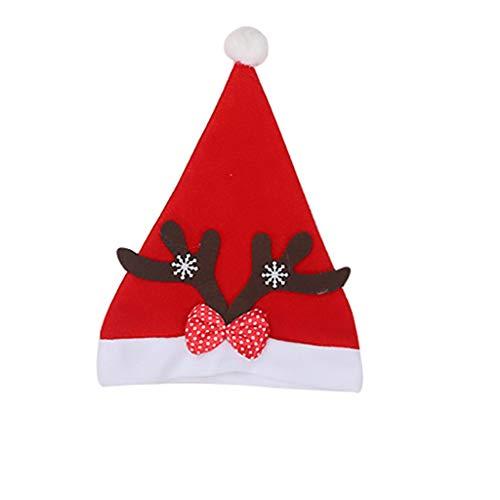 FFQY Christmas Hats Santa Hats Santa Claus Decorations Christmas Hat Santa Hat Plush Edge Christmas Party Red Santa
