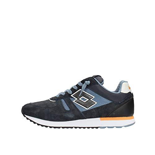 scarpe lotto uomo japan Lotto 212406 Sneakers con Lacci in CAMOSCIO E Tessuto da Uomo