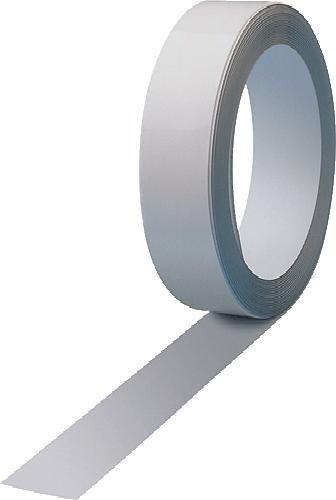 Maul Ferroband, Selbstklebende Magnethaft-Wandleiste aus Stahlblech, Größe 250 cm x 3,5 cm, Weiß