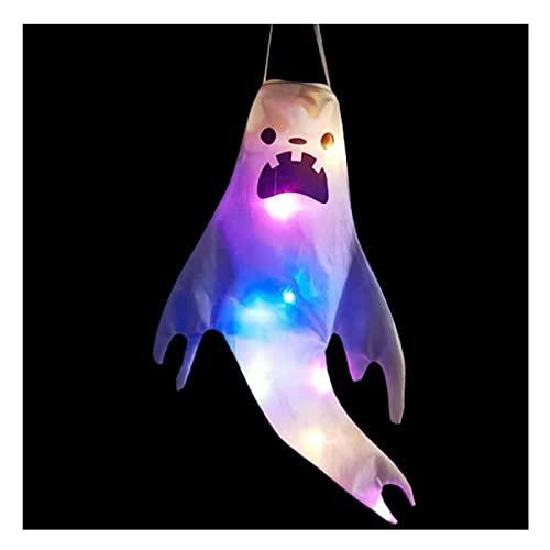 Halloween Decoración Luces Led Secador De Pelo De Halloween Bandera Decoración Al Aire Libre Bandera Bandera Festival Fantasma Iluminación Fantasma (Color : E)