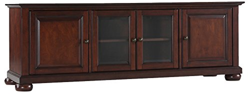 Crosley Furniture Alexandria 60-inch Low-Profile TV Stand, Vintage Mahogany