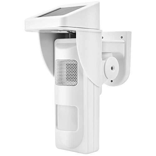 Timbre inalámbrico detector de sensor de movimiento solar, sistema de alarma de seguridad infrarroja, herramienta de seguridad exterior resistente a la intemperie