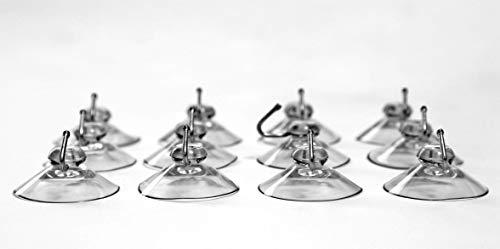 CAMAYER 12x Haken mit Saugnapf extra stark PVC weicher Saugnapf Haken Made IN Germany (40 mm) Dekohaken für Fenster Saugnapf Wandhaken Set Handtuch Haken für Küche & Badezimmer