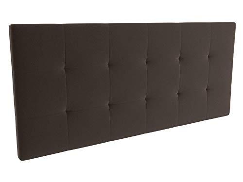 LA WEB DEL COLCHON - Cabecero tapizado Celio para Cama de 150 (160 x 70 cms) Marron Claro Textil Suave