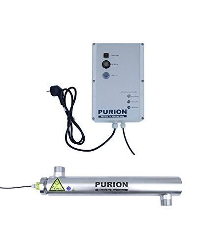 PURION 2001 UVC Reinigung für Pools klares Wasser ohne Chemie (PURION 2001 Edelstahl mit Lebensdauerüberwachung)