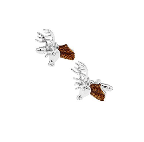 Hosaire 1 Paar Manschettenknöpfe Silber Cufflinks Mode Hemd Kupfer Manschettenknopf Kleidung Schmuck