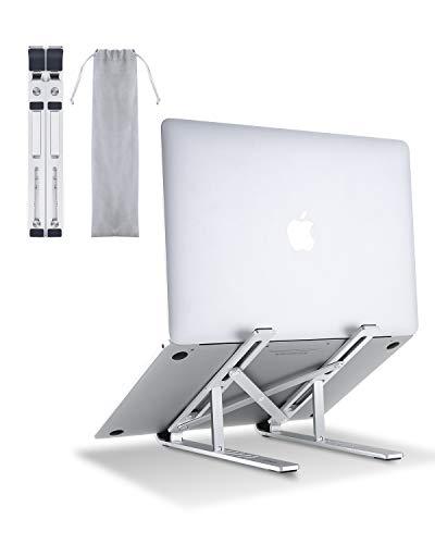 AUKEY Supporto PC Portatile Angolazione Regolabile Porta Notebook Pieghevole Alluminio Porta PC Supporto per MacBook Air/PRO, dell, XPS, HP, Lenovo An