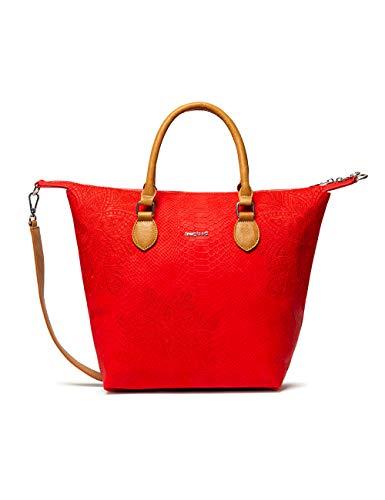 Desigual Bols_hela Konna - Zaino da donna, colore: Rosso (Carmin), 2.00 x 39.50 x 42.00 cm