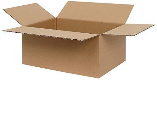 100 Faltkartons 300 x 215 x 140 mm | Versandkartons geeignet für Versand mit DPD, Hermes und GLS | 1-welliger Karton