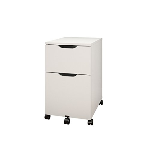 Arobas Mobile Filing Cabinet from Nexera, White