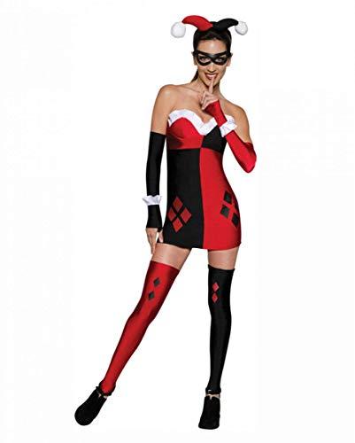 Horror-Shop 7 uds. Harley Quinn de vestuario mini vestido M