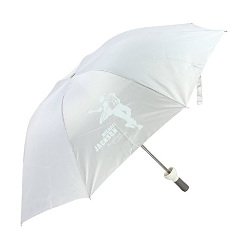 Greenery Fashion Weinflasche Faltbarer Regenschirm UV-Schutz Sonnenschirm Windproof Taschenschirm Mini Schirm Wine Bottle Folding Umbrella für Outdoor Camping als Fashion Geschenk (Weiß, Michael Jackson)