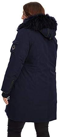 Alpine North Womens Vegan Down Long Parka Plus Size Winter Coat