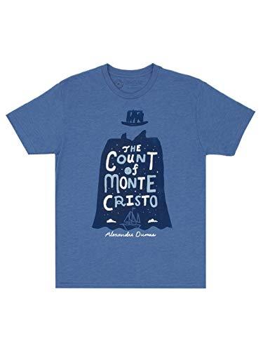 Camiseta masculina com tema livro clássico literário da Out of Print, The Count of Monte Cristo, 3XL