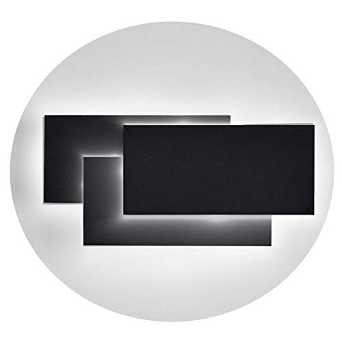 Ralbay Fashion Aluminum 12W LED Wall Mounted Light Lamp AC 85V-265V Wall Sconce Light for Bedroom Living Room Decorate(Black 4000K-4500K)