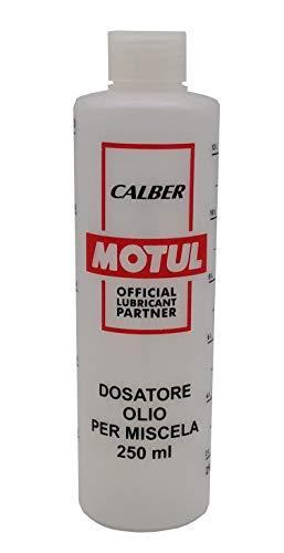 Motul Misurino Dosatore olio per miscela 250 ml con tappo, scala graduata e percentuali 2-4% 2,5-5% 3-6%