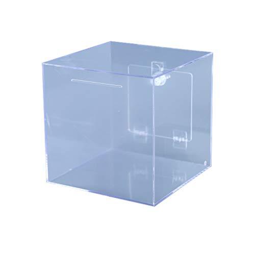 Hucha/Caja de Dinero Acrílico Piggy Bank con Lock Dinero Tarrar Donación Boleta Caja Fuerte Y Sugerencia Confiable Caja De Dibujo (Claro) Banco de Dinero (Color : 20x20x20cm (7.8x7.8x7.8in))