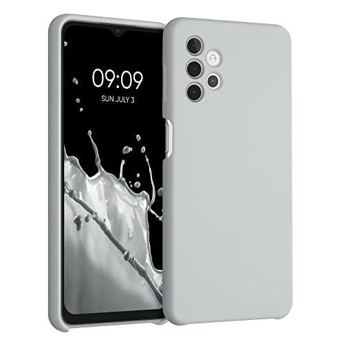 kwmobile Carcasa Compatible con Samsung Galaxy A32 5G - Funda de Silicona para móvil - Cover Trasero en Gris Claro Mate