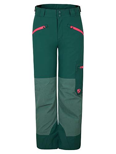 Ziener Mädchen AMIRO Junior Kinder Skihose, Winterhose | Wasserdicht, Winddicht, Warm, Spruce Green Washed.neon pink, 140