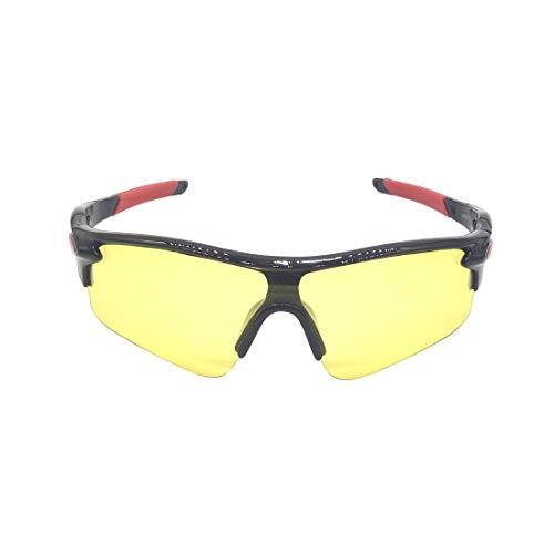 MINGZE Occhiali di protezione con Clear Wrap-Around Lenti antigraffio antigraffio e impugnature antiscivolo, protezione UV, occhiali da sole per il ciclismo Pesca Golf, trasparente, antigraffio