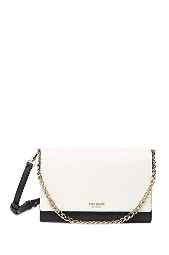 """5.7"""" h x 9.1"""" w x 2.6"""" d; adjustable 22"""" crossbody strap Saffiano leather; 14k gold tone hardware chain crossbody bag with optional cross body strap; can be worn 3 ways: as a crossbody bag, chain shoulder bag or clutch. interior slide pocket, magneti..."""