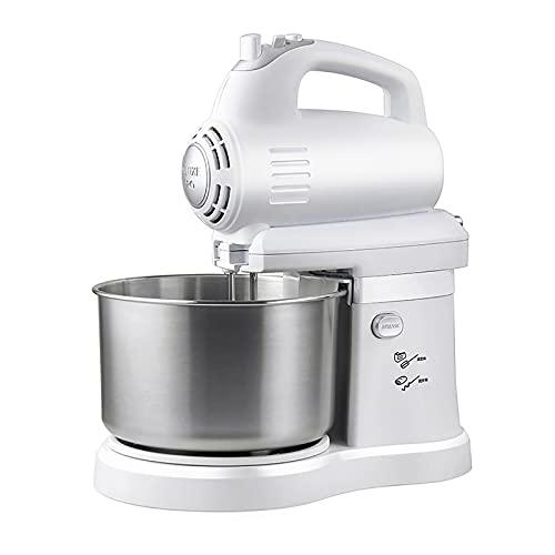 CLING Batidora pie Batidora eléctrica 5 velocidades para Cocina con tazón Acero Inoxidable 3 Cuartos para la mayoría de Cocineros caseros