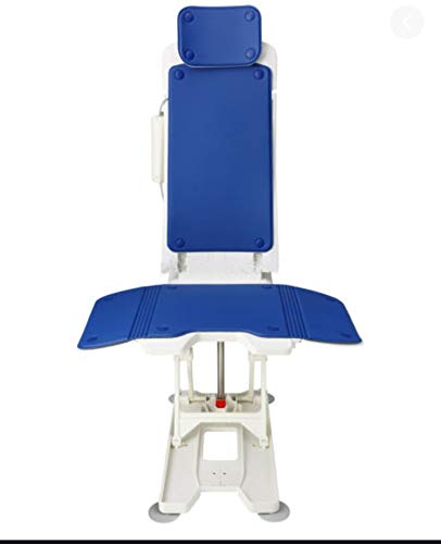 Tranquilo Premium Electric Bath Lift with Padded, SAFESWIVEL Rotating SEAT and Electric Recline. Smooth, Quiet Drive System, 6 Suction Cup Base and 400lb Capacity.
