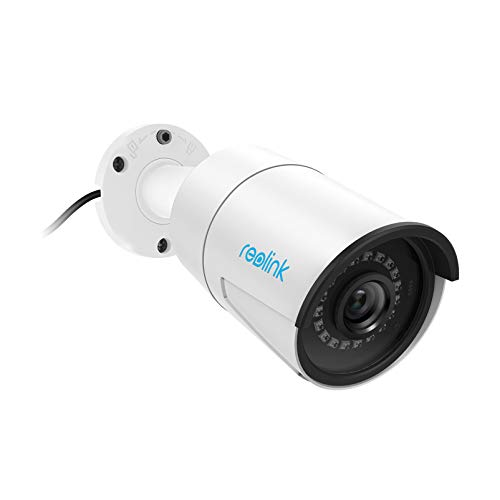Reolink 5MP PoE Camera Outdoor/Indoor IP Security Video Surveillance Work with Google Assistant, IR Night Vision Motion Detection Sound Support SD Card Slot RLC-410-5MP