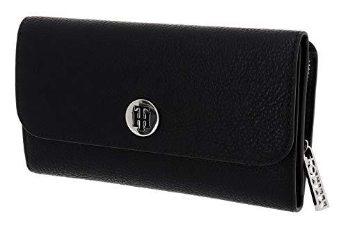 Tommy Hilfiger Damen Th Core Travel Wallet Geldbörse, Schwarz (Black), 2.5x10.199999999999999x20.3 centimeters