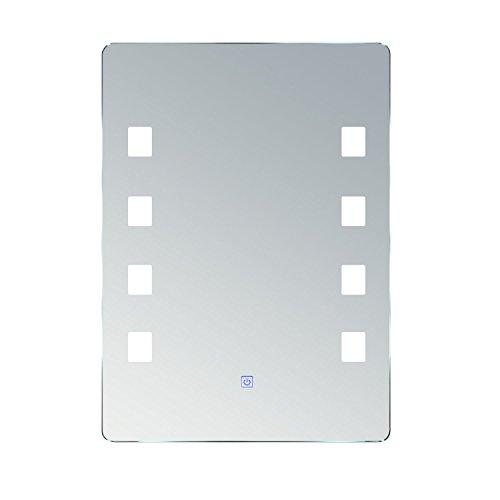 HOMCOM Lichtspiegel LED Spiegel Badspiegel Badezimmerspiegel Wandspiegel (Modell2/50 x 70 x 4cm)
