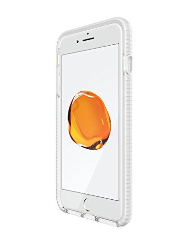 tech21 EVO Check Funda para teléfono móvil Transparente, Blanco - Fundas para teléfonos móviles (Funda, Apple, iPhone 7 Plus/8 Plus, Transparente, Blanco)