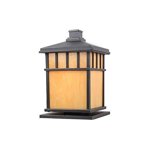 Lámpara De Columna De Patio De Metal De Aluminio A Prueba