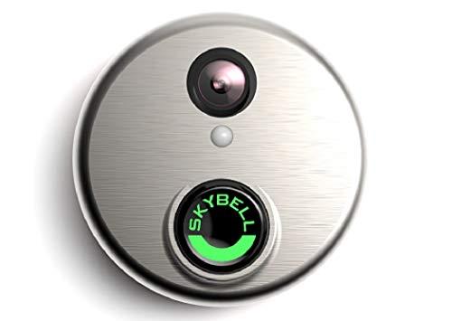Alarm.com Wi-Fi Doorbell Camera SkyBell HD Edition Silver