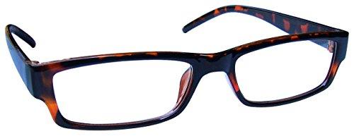 The Reading Glasses Braune Schildpatt Kurzsichtig Fernbrille Kurzsichtigkeit Herren Damen Leicht Komfortables M32-2 -2,00