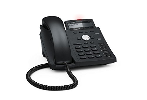 SNOM Desk Telephone D305 (HD Dideband Audio, 5 Configurable Function Keys with LEDs, 4 Sip Identities) Black