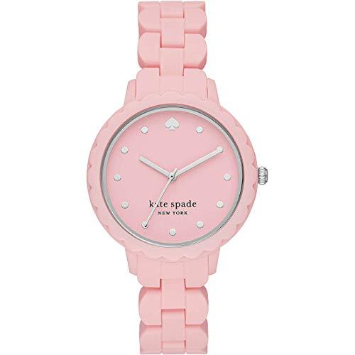 kate spade New York Reloj de Cuarzo para Mujer con Correa de Silicona, Rosa, KSW1607