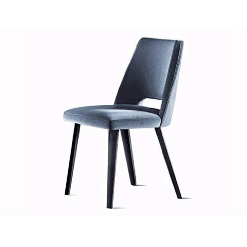 Modern Effen houten eetstoel, Casual stemstoel, bureaustoel, Amerikaanse koffiestoel, woonstoel