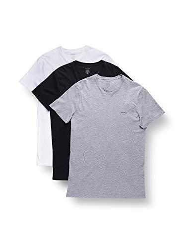 Diesel Herren Unterhemd UMTEE-JAKETHREEPACK (3er Pack), Mehrfarbig (Blue/White/Grey 01), M