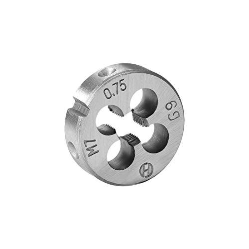 uxcell M7 X 0.75 Metric Round Die, Machine Thread Right Hand Threading Die, Alloy Steel