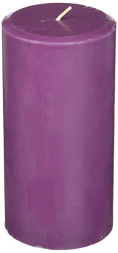 Northern Lights Candles Plum Orchid & Dahlia Fragrance Palette Pillar Candle, 3 x 6