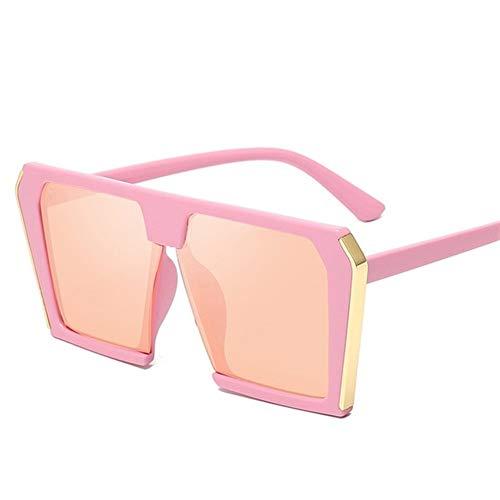 N\A Gafas de Sol Mujer, 2020 Tendencia Grandes de la Caja Cuadrados Gafas de Sol de Las Mujeres retras Gafas de Sol Gafas de Sol Mujer Mujer Hombre Universal (Lenses Color : Pink)
